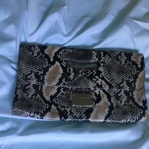 Nine West Snakeskin clutch